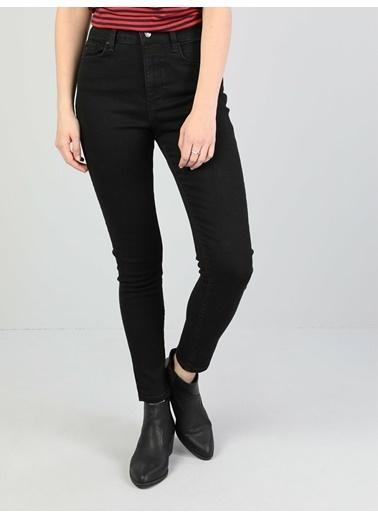 Colin's 760 Dıana Yüksek Bel Dar Paça Super Slim Fit Siyah Kadın Jean Pantolon Lacivert
